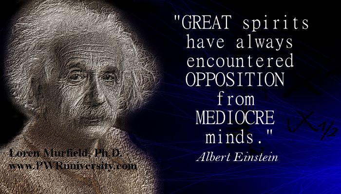Albert Einstein mediocre minds